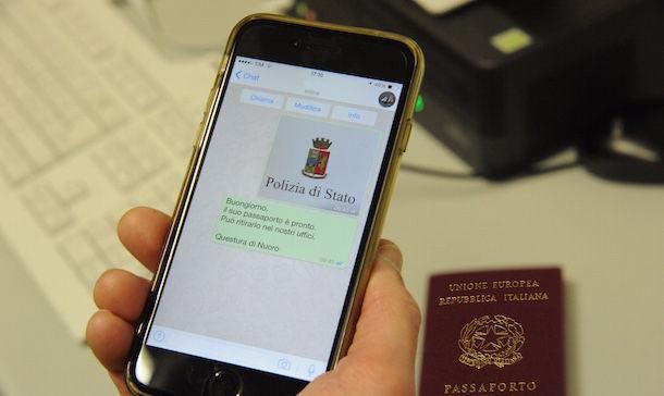 Polizia di Stato, un sms per sapere se il passaporto è pronto ...
