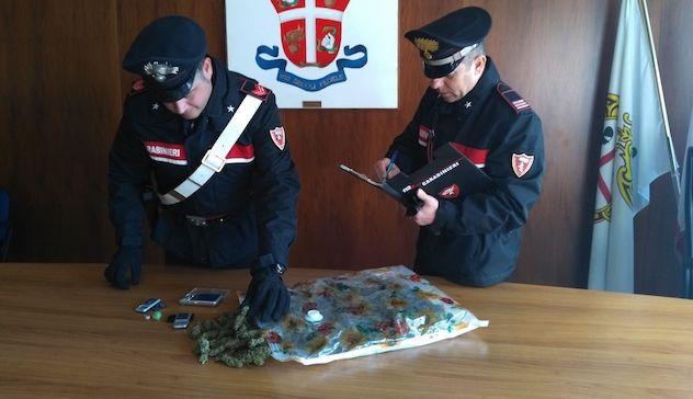 In cantina 8.100 dosi di droga, carabinieri Foligno arrestano 30enne