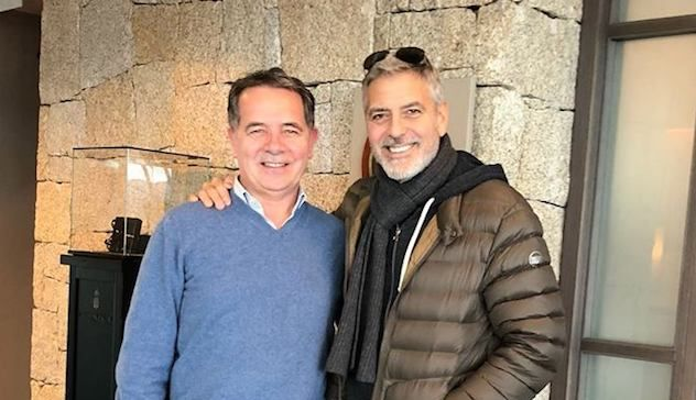 Nuova fiction tv: George Clooney a Olbia per un sopralluogo