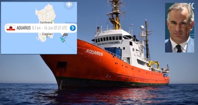 Aquarius cambia rotta e punta la Sardegna: