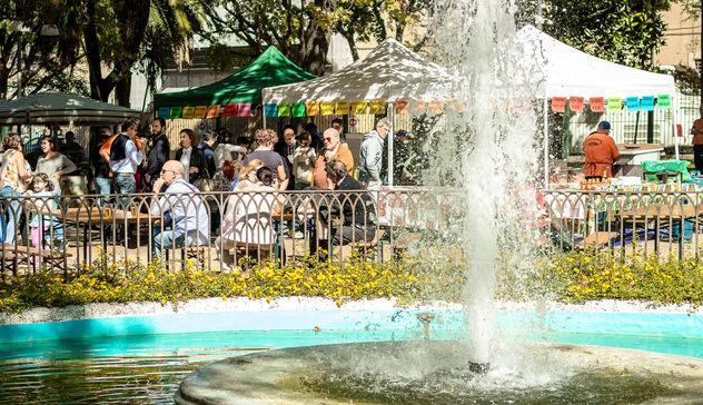 Birra e prodotti tipici ai giardini pubblici per l'Oktoberfest