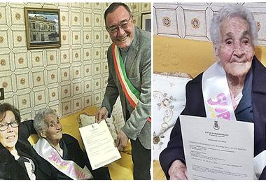 Gli auguri a tzia Ninnuccia: grande festa per la nonnina centenaria