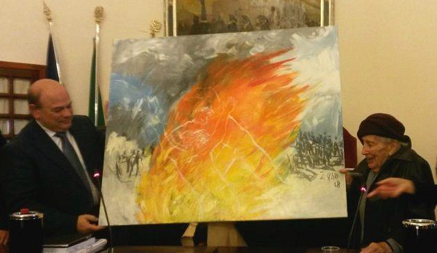 La guerra, la battaglia e gli uomini in un quadro di Liliana Cano